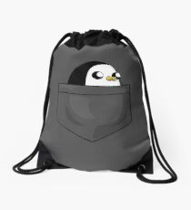 There's an evil penguin in my pocket! Drawstring Bag