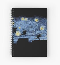 Starry Fight Spiral Notebook