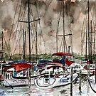 sailboats nautical art painting by derekmccrea