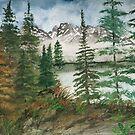 Landscape mountains painting by derekmccrea