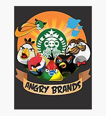 Angry Birds Angry Brands Photographic Print