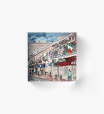 Savannah River Street painting Acrylic Block