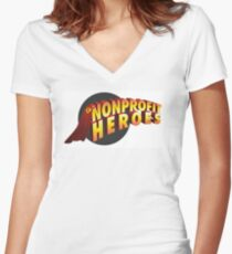 nonprofit heroes Women's Fitted V-Neck T-Shirt