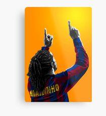 Ronaldinho Gaúcho - Barcelona - Brazil Metal Print