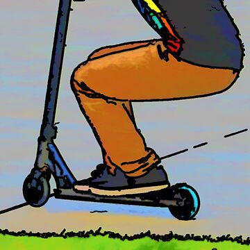 Scooter Cruiser - Stunt Scooter Trick by NaturePrints