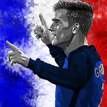 Antoine Griezmann France - Euro2016 by barrymasterson