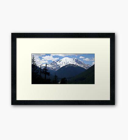 Mt. Rainier Across the Valley Framed Print