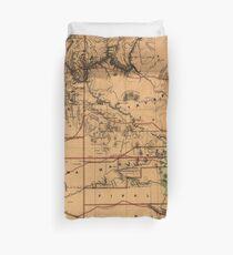 Vintage Karte von Arizona (1876) Bettbezug