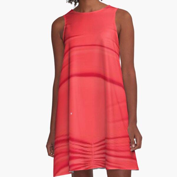 Cocktail dress, pattern, design, tracery, weave, figure, picture, illustration A-Line Dress