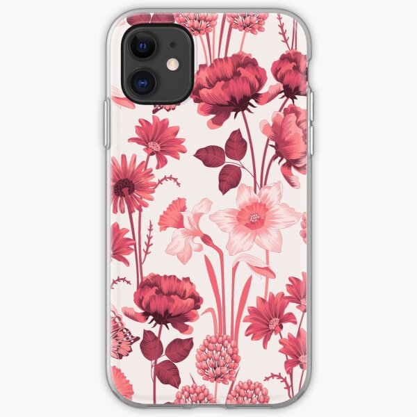 Spring Flowers in Pink iPhone Soft Case