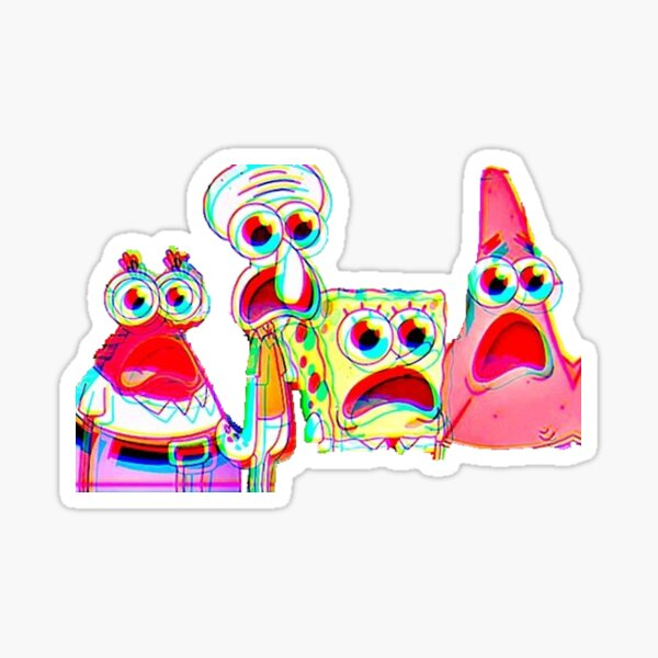 Trippy Spongebob Sticker