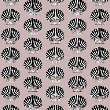 Sea Shells on muted blush by Veata