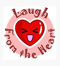 Laugh from the Heart Photographic Print