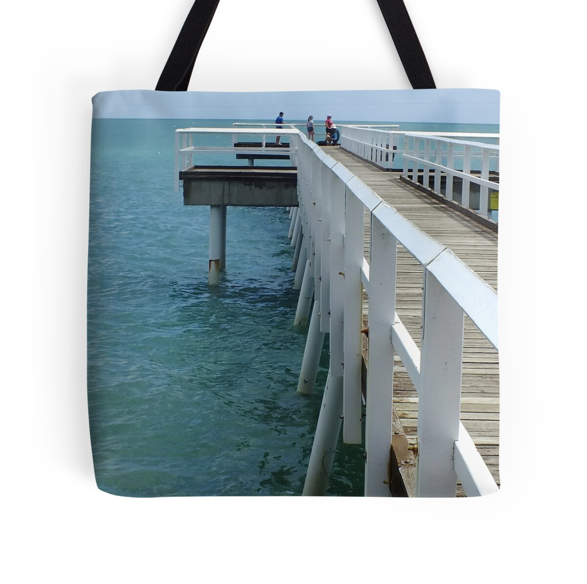 Quot Scarness Jetty Hervey Bay Qld Australia Quot Tote Bags By