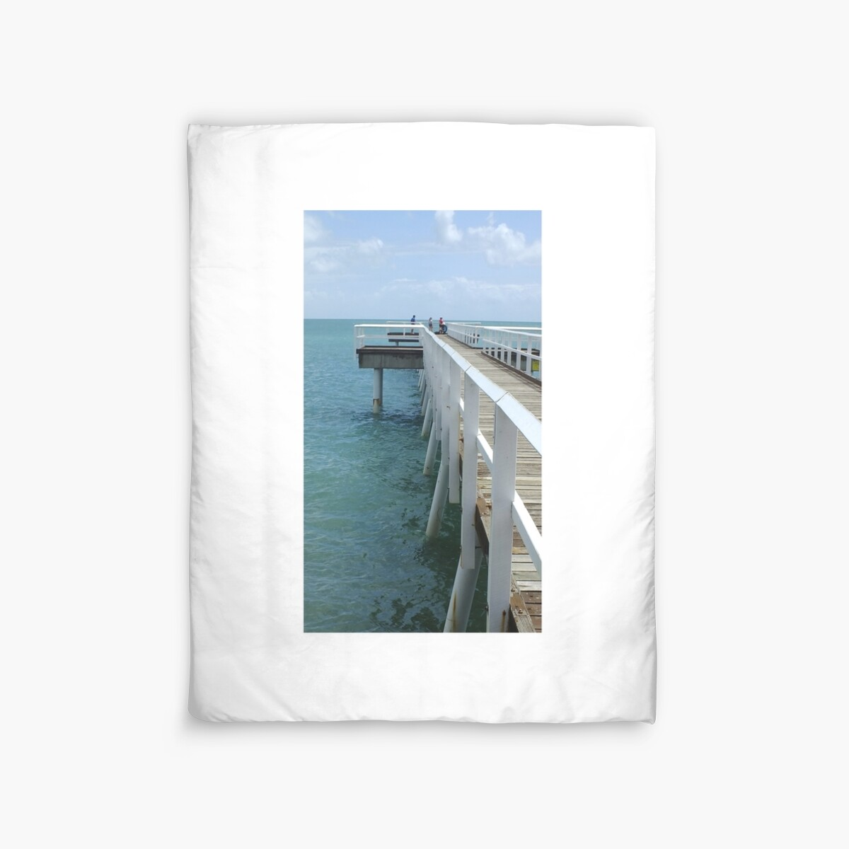 Quot Scarness Jetty Hervey Bay Qld Australia Quot Duvet Covers