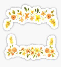 Yellow Flora Sticker