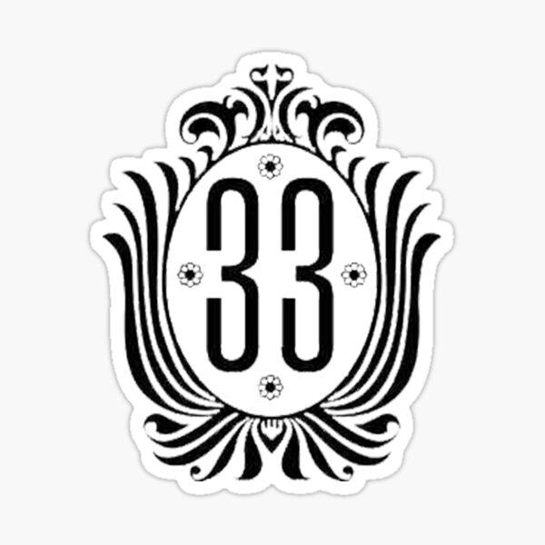 Club 33 Address Plaque Sticker