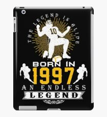 The 'Football' Legend Is Alive - Born In 1997 iPad Case/Skin
