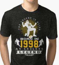 The 'Football' Legend Is Alive - Born In 1998 Tri-blend T-Shirt