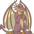 Dragon Sticker by N E T H A R T I C