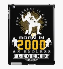 The 'Football' Legend Is Alive - Born In 2000 iPad Case/Skin