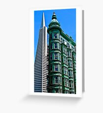 San Francisco Architectural Contrast Greeting Card