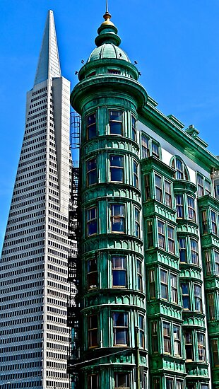 San Francisco Architectural Contrast by Scott Johnson