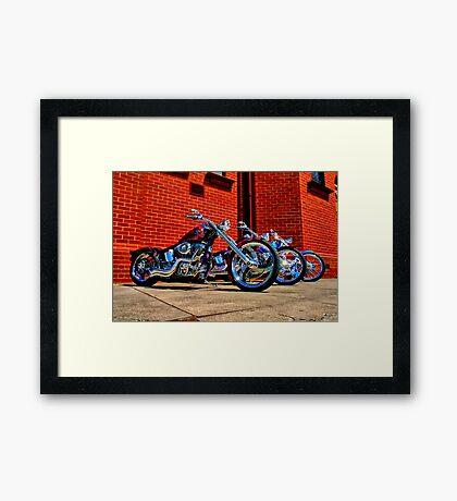 """Harleys at Heaven's Door"" Framed Print"