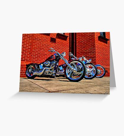 """Harleys at Heaven's Door"" Greeting Card"