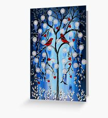 blue, white, and red Greeting Card
