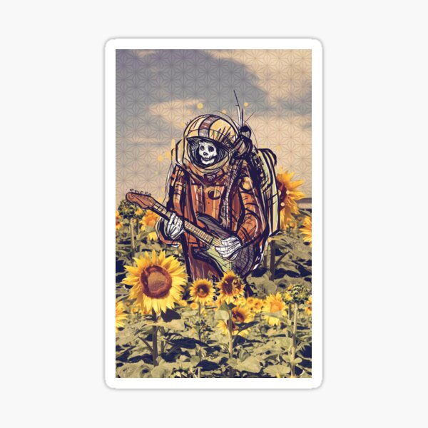 Dead Astronaut Walkin' on the Sun Sticker
