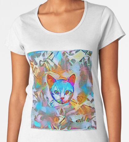 White cat Premium Scoop T-Shirt