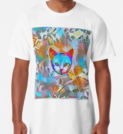 White cat Long T-Shirt