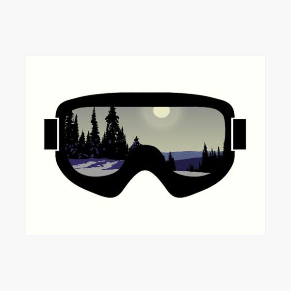 Morning Goggles | Goggle Art | DopeyArt Art Print