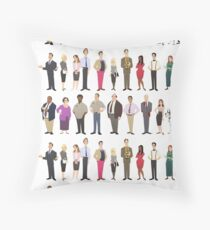 The Employees Of Dunder Mifflin Scranton Branch The Office Throw Pillow