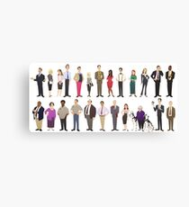 The Employees Of Dunder Mifflin Scranton Branch The Office Canvas Print