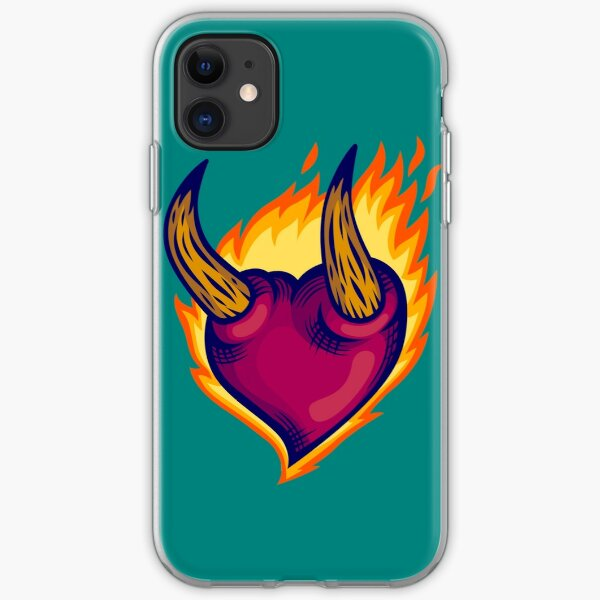 The Burning Heart iPhone Soft Case