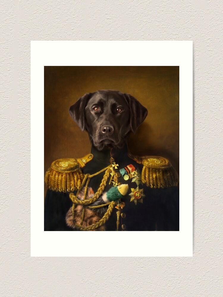 Alternate view of Labrador Portrait - Mambo Art Print