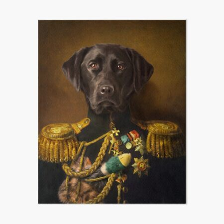 Chocolate Labrador coffee 8x10  art PRINT dog animals impressionism