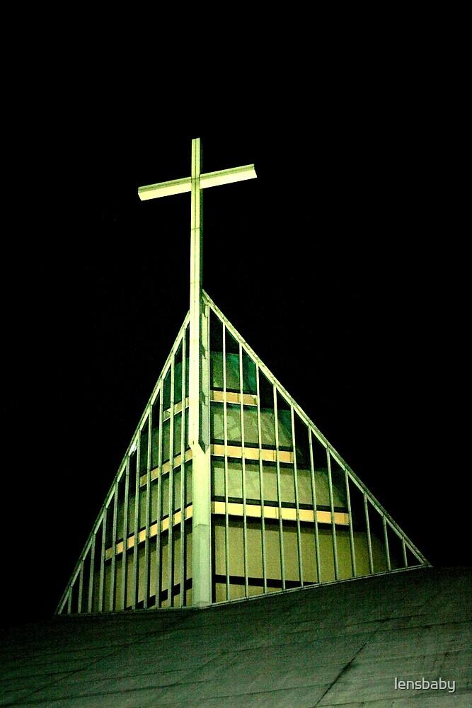 steeple - Church of the Gesu by lensbaby