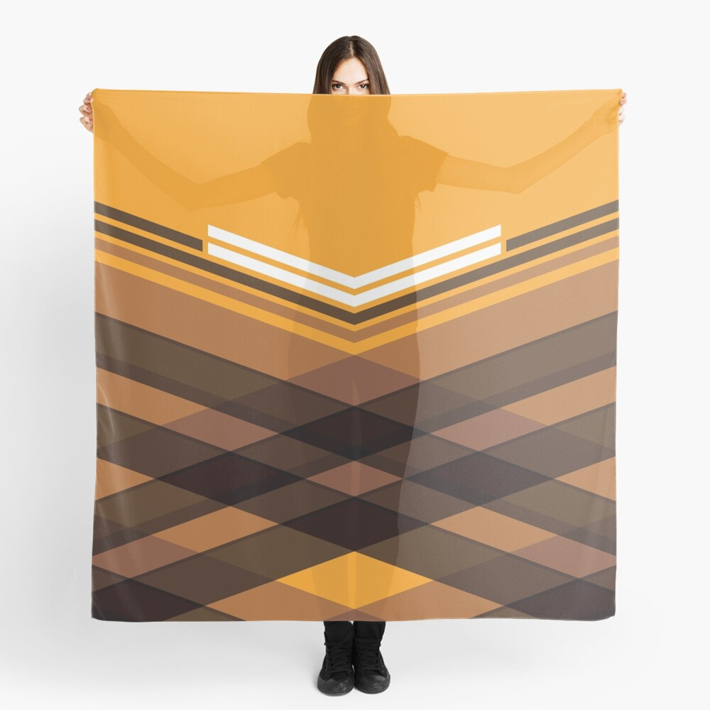 Brown Stripes Scarf