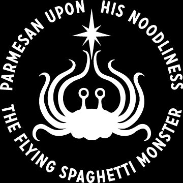 Flying Spaghetti Monster - His Noodliness (White) by pastafarian