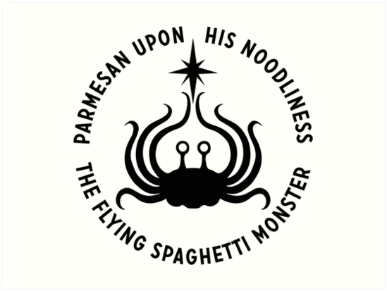 Flying Spaghetti Monster His Noodliness Art Prints By Pastafarian