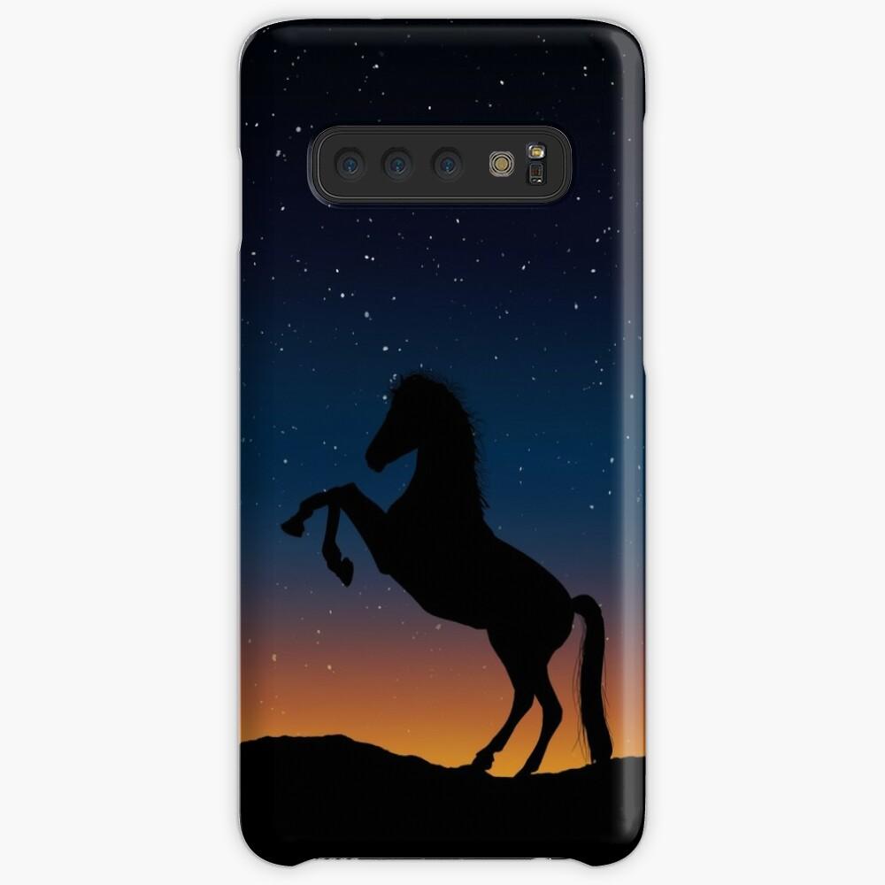 Pferd Hülle & Klebefolie für Samsung Galaxy
