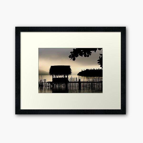 Tropical Morning Mist Framed Art Print