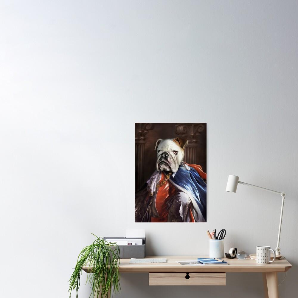 Bulldog Portrait - Lucius Poster