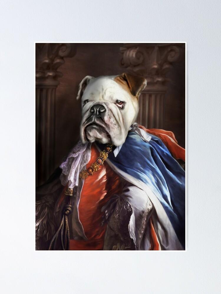 Alternate view of Bulldog Portrait - Lucius Poster