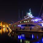 Glossy Vittoriosa Marina in Ultra Violet and Cyber Yellow by Georgia Mizuleva