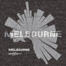 Melbourne Karte von UrbanizedShirts