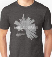 Melbourne map Slim Fit T-Shirt